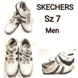 Skechers Leather Sneakers Sz 7 Mens